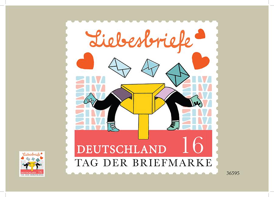"""Postimerkki kilpailu ehdotus, Deutsche Post """"liebesbriefe"""""""