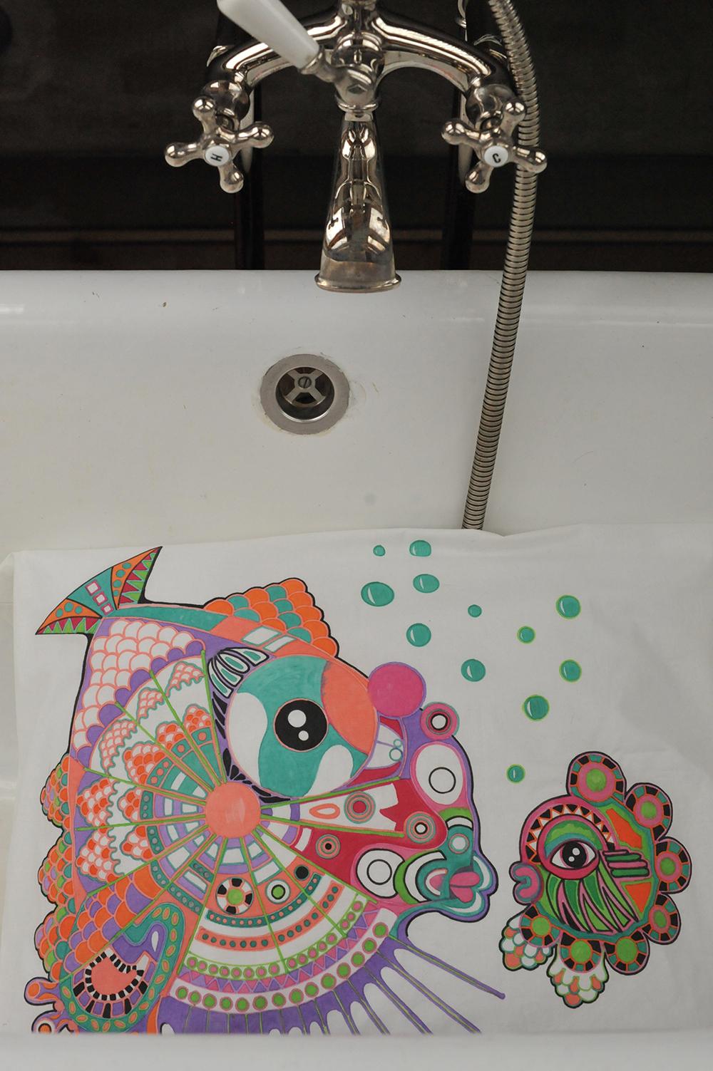 kalatyynyliina 2012, Fish pillocase