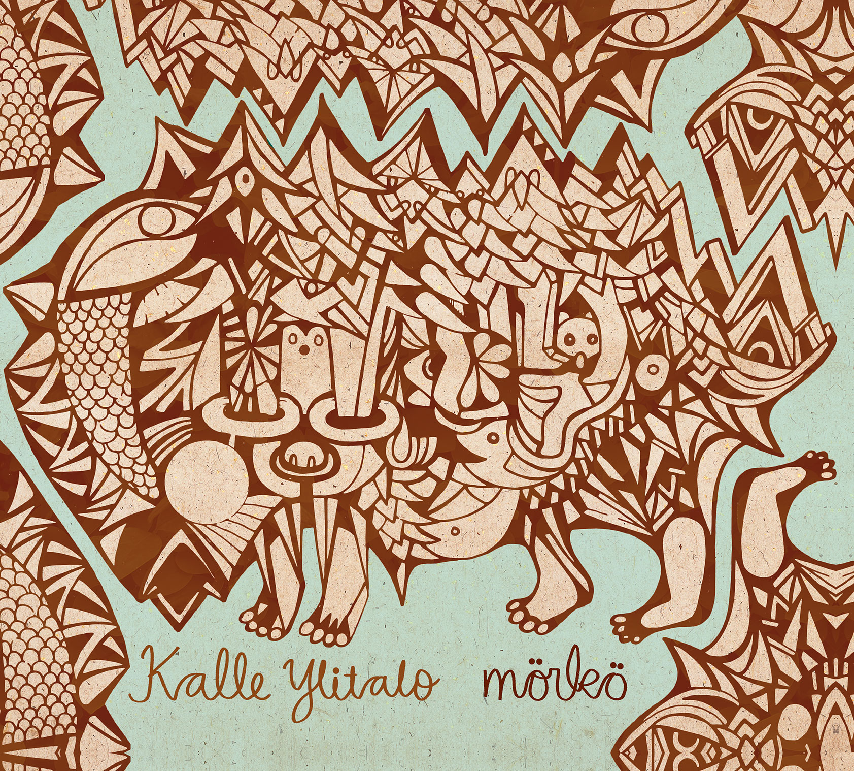 "Kalle Ylitalo's ""mörkö"" cd-illustration, 2014"