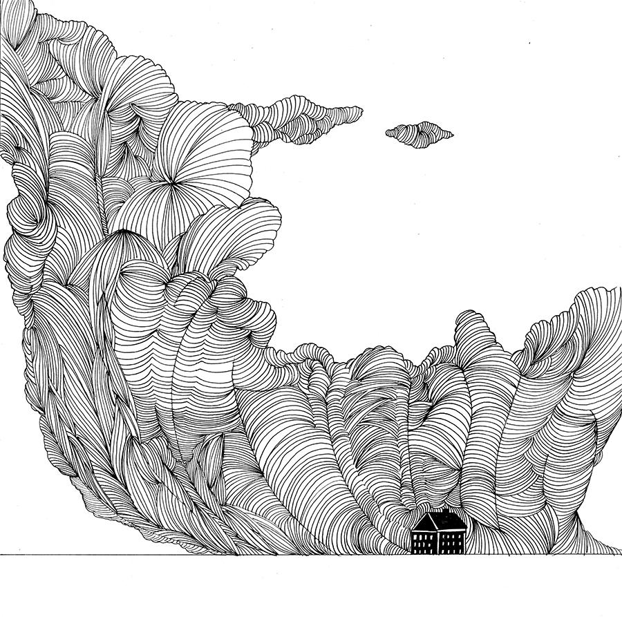 Clouds-book, Wolken-buch, Pilvet- kirja (2015), 28 sivua/pages