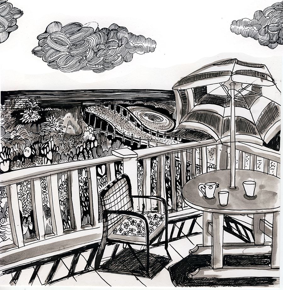 New Jersey, Ink, Terrace
