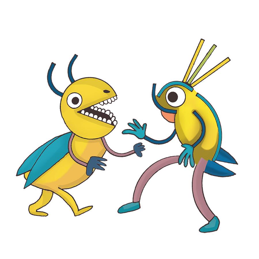 ötökät tanssii, dancing bugs