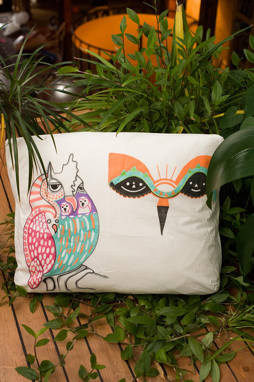 Pöllö tyynyliina, 2012, Owl pillowslip