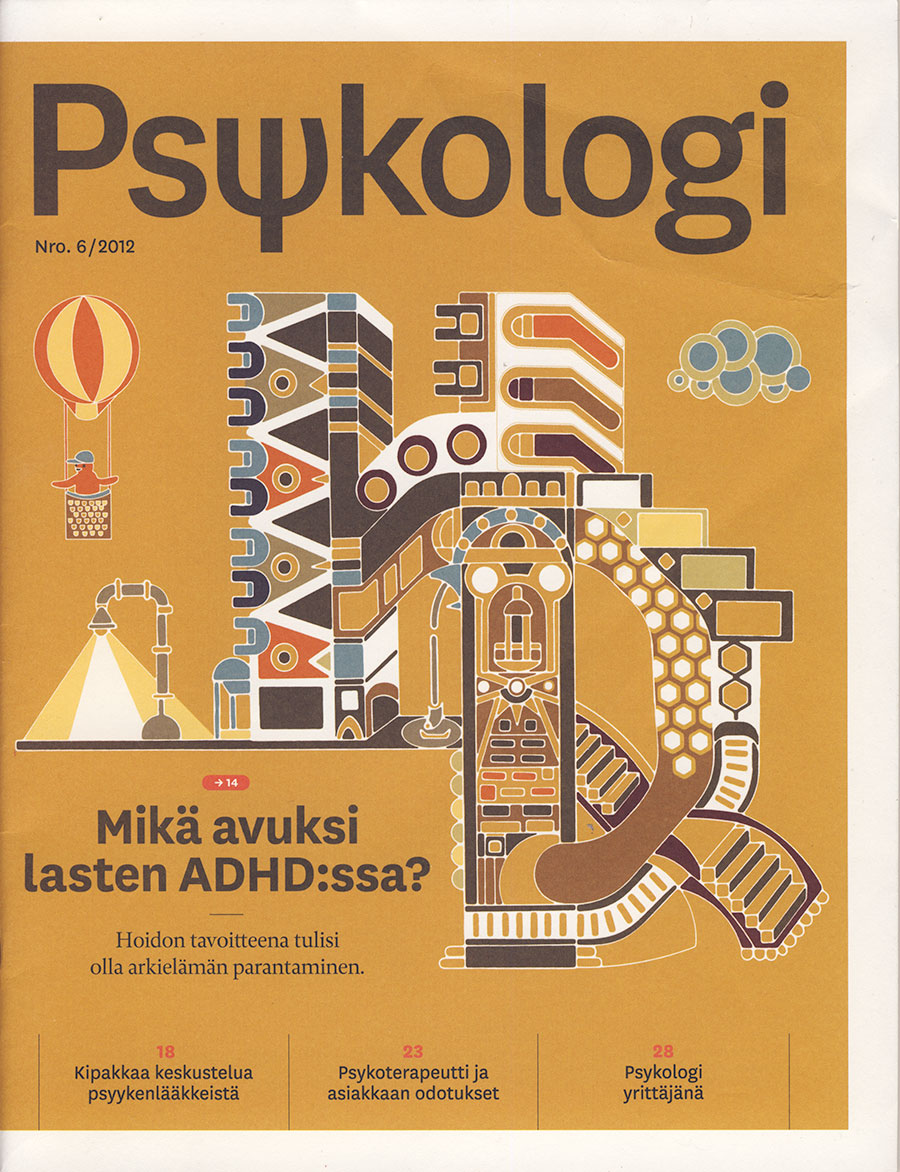 psykologi lehden kansikuvitus, Cover Illustration for Psykologi Magazine