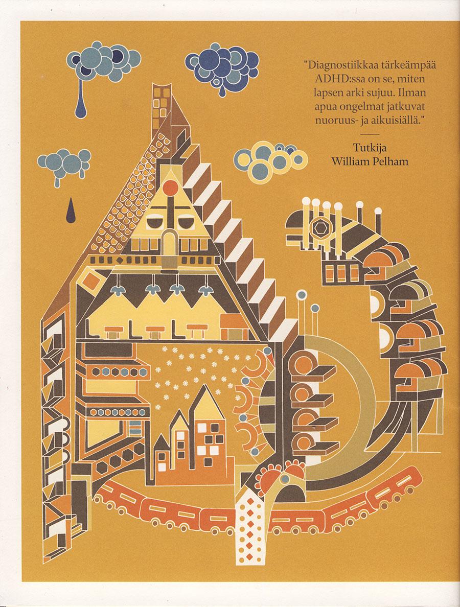 psykologi lehden kansikuvitus, psykologi lehden kansikuvitus, Cover Illustration for Psykologi Magazine