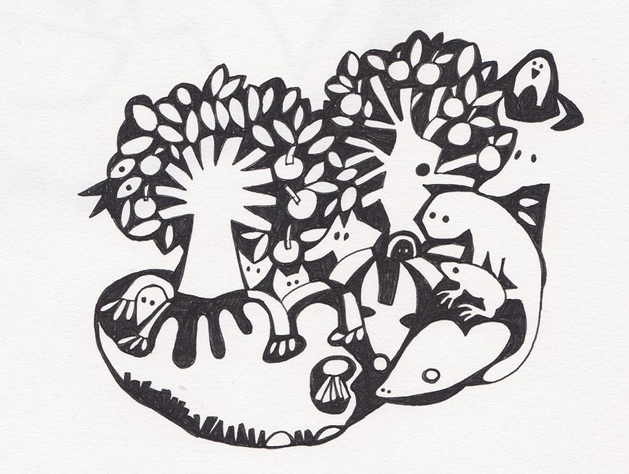 Sketchbook, Ink drawing 2015