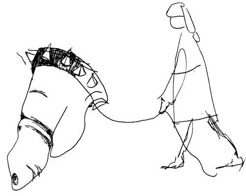 kävellyttäjä,2007 sketchbook