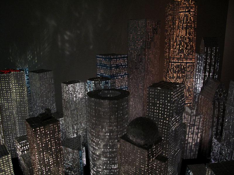 Lääkekaupunki/ Medicinecity, installation, made with Antti Pussinen, 2009, 3x3 meters. Shown at Tampere Artmuseum Finland 2009, Suomesta galleria Berlin 2010, Kuopio Artmuseum Finland