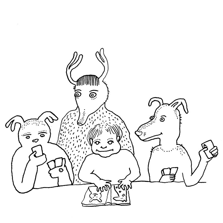 Card game, sketchbook