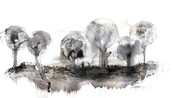 Trees, Ink, 2009