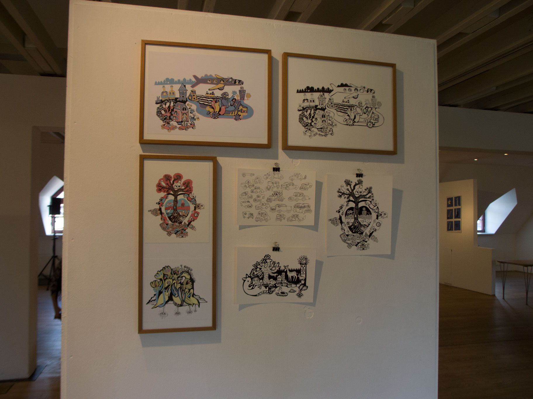 Illustration group exhibition after the workshop 2015